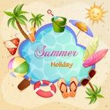 Summer holiday illustration Stock Photos