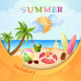 Summer holiday illustration Stock Photography