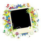 Summer holiday, insert your photo into frame royalty free illustration