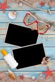 Summer holiday items Stock Photos
