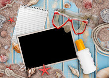 Summer holiday items Stock Photography