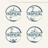 Summer holiday logos Stock Photo