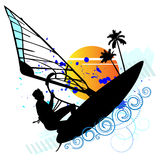 Summer holiday, lonely sailor - vector Royalty Free Stock Photos