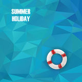 Summer holiday low poly poster with sea water in