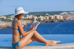 Summer holiday in mallorca woman Royalty Free Stock Images