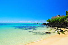 Summer Holiday at Mauritius. Nice serene view of Mauritius shoreline Stock Images