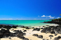 Summer Holiday at Mauritius. Nice serene view of Mauritius shoreline Royalty Free Stock Photos