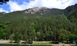 Summer holiday in the mountains. Photo taken on: July 27 Saturday, 2013 Royalty Free Stock Photos
