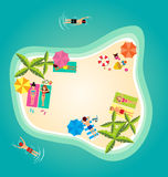 Summer holiday in ocean island Royalty Free Stock Photography