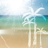 Summer holiday ocean tropical design Royalty Free Stock Photography