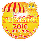 Summer Holiday 2016 Package Discounts Background Stock Images
