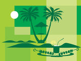 Summer holiday with palm tree Stock Image