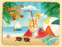 Summer holiday poster Royalty Free Stock Images
