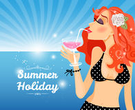 Summer Holiday poster Stock Photos