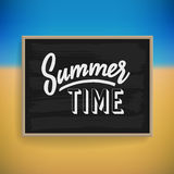 Summer holiday poster design Royalty Free Stock Image