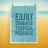 Summer holiday poster design Royalty Free Stock Photos