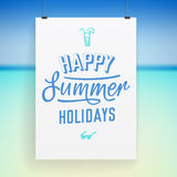 Summer holiday poster design Royalty Free Stock Photography