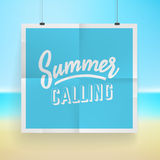 Summer holiday poster design Stock Photography