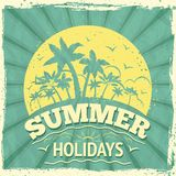 Summer holiday poster Stock Images