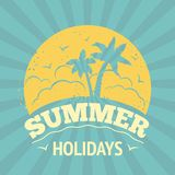 Summer holiday poster Stock Image