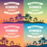 Summer holiday poster Royalty Free Stock Photography