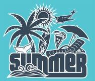 Summer holiday poster Royalty Free Stock Photos
