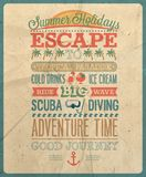 Summer holiday poster. Vector illustration Stock Images
