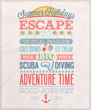 Summer holiday poster. Vector illustration Stock Photos