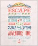 Summer holiday poster. Vector illustration stock illustration