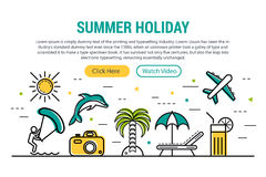 Summer holiday - rectangular site header Royalty Free Stock Photos