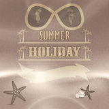 Summer holiday retro vintage background Stock Photography