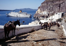 Summer holiday in Santorini Royalty Free Stock Photography