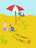 Summer Holiday Scenery vector illustration Stock Photography