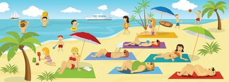 Summer holiday by the Sea stock illustration