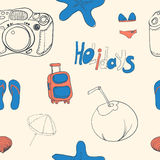 Summer holiday seamless ornament pattern  Vector illustration. Stock Image