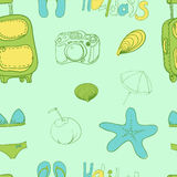 Summer holiday seamless ornament pattern  Vector illustration. Stock Photos