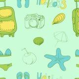 Summer holiday seamless ornament pattern  Vector illustration. Stock Photos