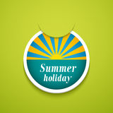 Summer holiday sticker. Royalty Free Stock Photos