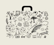 Summer Holiday, Suitcase Stock Images