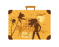 Summer Holiday, Suitcase Stock Photos