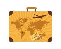 Summer Holiday, Suitcase Stock Photo