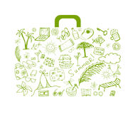 Summer holiday, suitcase for your design Royalty Free Stock Image