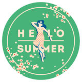 Summer Holiday and Summer Camp poster. Royalty Free Stock Photography