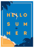 Summer Holiday and Summer Camp poster. Royalty Free Stock Image