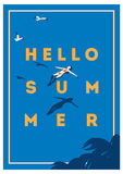 Summer Holiday and Summer Camp poster. Stock Image