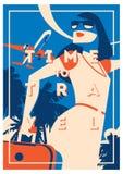 Summer Holiday and Summer Camp poster. Royalty Free Stock Photos