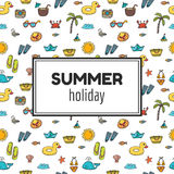 Summer holiday. Summer tropical vacation background. Cute hand d Royalty Free Stock Photography
