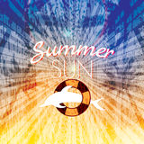 Summer holiday sun creative poster Royalty Free Stock Image