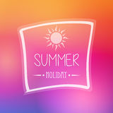 Summer holiday with sun in frame Stock Photo