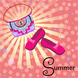 Summer holiday in the sun. Vector illustration Royalty Free Stock Photography